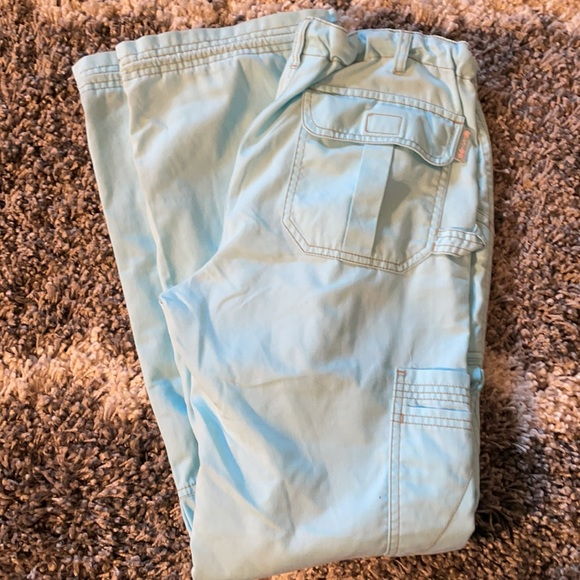Koi light aqua color Lindsey scrub pants